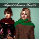 Astya96 – Autumn Scarf 02 by Astya96 new mesh 16 swatches…