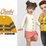 WAEKEY • Chunky Cardigan • New mesh / EA mesh edit •…