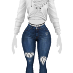 SimTrends — Rebel Chic Outfit – 2,000 follower gift Top: 10…
