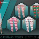SIms4Krampus' Set of 4 Christmas Tights