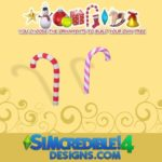SIMcredible!'s Build up your Christmas tree – candy cane
