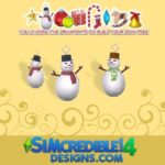 SIMcredible!'s Build up your Christmas tree – Snowman