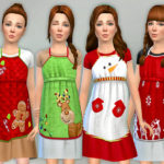 lillka's Christmas Apron for Girls
