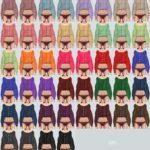 Puff Sleeves Cardigan_퍼프 소매 가디건_여자 의상 – SIMS4 marigold