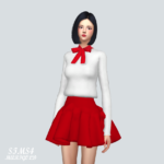 Ribbon Simple Blouse_ Ribbon Simple Blouse – SIMS4 marigold
