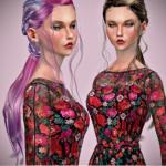 Jennisims: Downloads sims 4:Newsea DragonStone Hair retexture