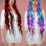 Jennisims: Downloads sims 4:Newsea Siren Forest Hair retexture