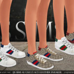[JS SIMS 4] Gucci Ace Leather Sneaker