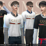 [JS SIMS 4] Two Layer Gucci Top