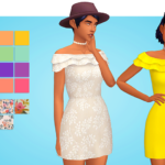 very nice trash plant | recolor of @plumboxsim 's ruffles dress in…