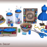 My Space | ***Craft Room Decor*** Sims 4. Includes 13…