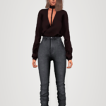 cross drape front top (patreon exclusive) + classic high waist jeans