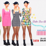 ★Pixelunivairse★ Peter Pan Collar Dress.
