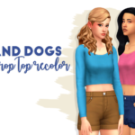 solid recolors of the crop top from Cats & Dogs