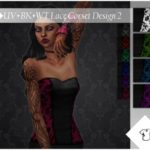 ALExIA483's UV+BK+WT Lace Corset Design 2 Top