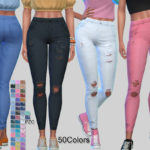 Pinkzombiecupcakes' Bellezza Ripped Denim Jeans