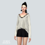 Lace Sweater_ lace sweater _ women's costume – SIMS4 marigold