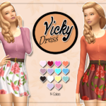 KASS – Vicky Dress – Maxis Match