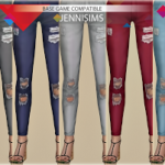 Jennisims: Downloads sims 4:Base Game compatible Jeans Ripped
