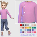 Giulietta-Sims: Toddler Sweater With Pearl Buttons