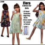 Flora -A Dress for Girls & Toddler Girls- | GO TO… – Sims 4 Nexus