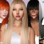 Redhead Sims CC | TsminhSims_S4 Hair 56 Rayza – 2 RECOLOR Recolor …