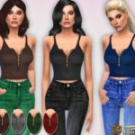 Harmonia's Button-up Crop Tank Top