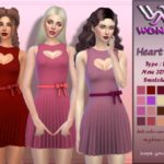 Wonder Sims' WS Heart Beat Dress