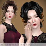 Jennisims: Downloads sims 4:Newsea Lenox Hair retexture