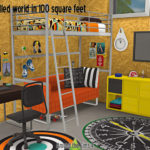 Around the Sims 4 | Custom Content Download | IKEA Bedroom – A chillded world in 100 suare feet