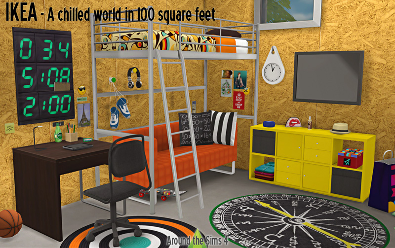 Around the sims 4 custom content download ikea bedroom for 100 sq feet bedroom