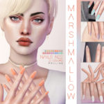 Pralinesims' Marshmallow Nails N22