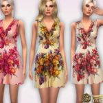 Harmonia's 30's Chinoiserie Honey Tea Dress