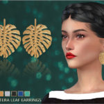 Monstera Leaf Earrings by Oscar De La Renta