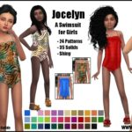 Jocelyn -A Swimsuit for Girls- | GO TO DOWNLOAD… – Sims 4 Nexus