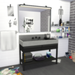 MODELSIMS4. • The Sims 4: BOYS BATHROOM | Townhouse Sink | Plant…