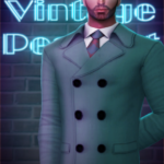 [Lonelyboy] TS3 & TS4 Male Vintage Peacoat Hope… – TOLKNAM