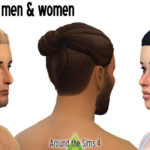 Around the Sims 4 | Custom Content Download | Hair – Undercut bun