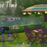 Around the Sims 4 | Custom Content Download | BBQ Barbecue time – clutter and furniture