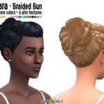 Around the Sims 4 | Custom Content Download | Hair – Braided bun for straight and afro hairs