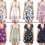 TS4 ELLIESIMPLE V NECK DRESS – FROST SIMS 4