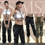 [JS SIMS 4] Cady Heron Camo Pants + Ripped Fishnet Stockings