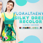 FLORALTAENY: FLORALTAENY'S SILKY DRESS RECOLOR 12 swatches …