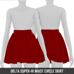 Redhead Sims CC | DELTA SUPER-HI WAIST CIRCLE SKIRT Conversion HQ…