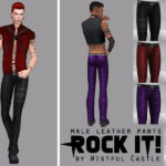 Rock it! – male leather pants, base game… – Wistful Castle