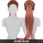 Redhead Sims CC | SKYSIMS 201 HAIR 2T4 HQ compatible Category: Hair…