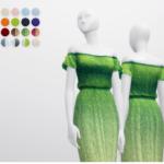 Rusty's — Off-Shoulder Dress 20 Color 무단수정/2차배포 절대 금지 DO…