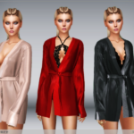 satin robe and lace bodysuit new mesh