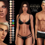 Pralinesims' PS Powder Skin Overlay