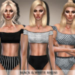 Black Lily's Black & White Bikini